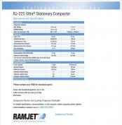 RJ-225 Ultra Stationary Compactor Specs